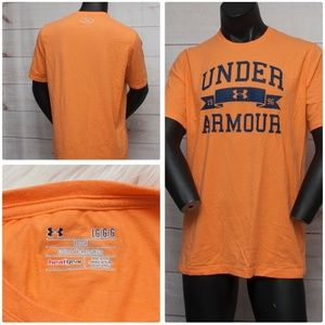 Under Armour Heatgear Orange Large T-Shirt Charged
